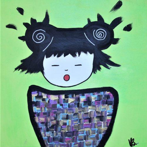 Tableau sur toile, fille asiatique.