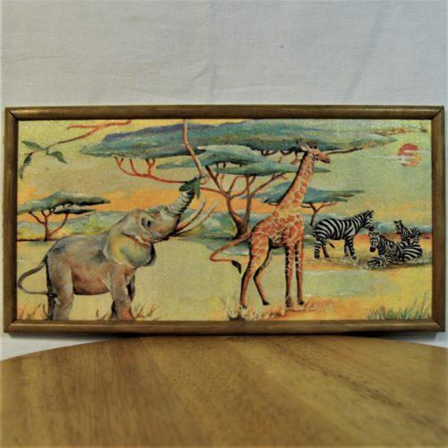 Petit tableau : Savane Africaine.